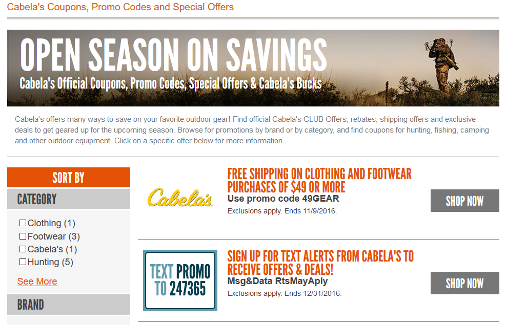 How to Get Cabela's Coupons