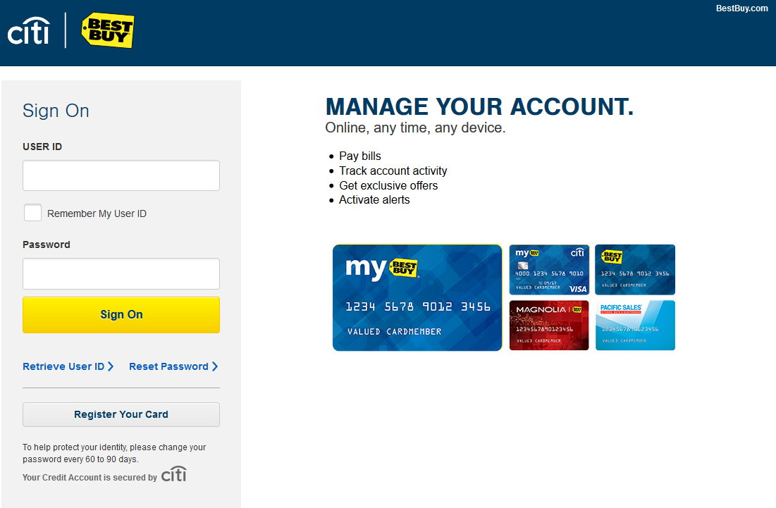 How to Login to Best Buy Credit Card