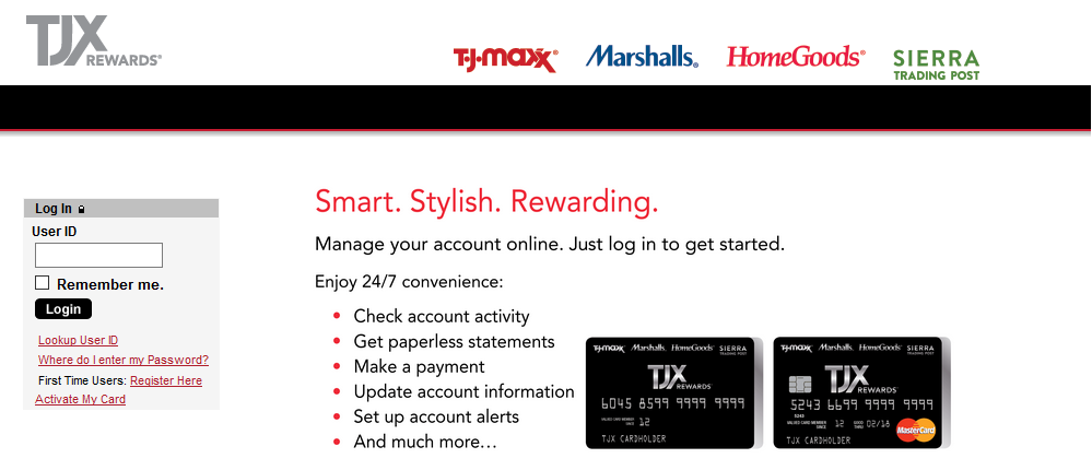 How to Login to TJX Credit Card
