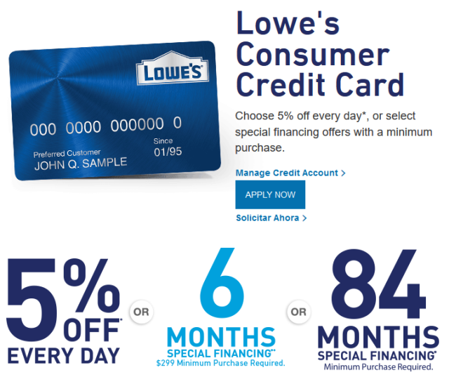 Lowe's Credit Card Application