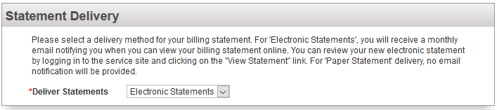 Step 4 - Select the Statements Delivery