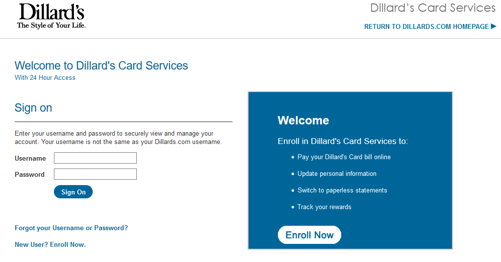 How to Activate/Register Dillard's Credit Card