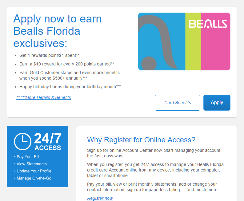 Step 1 - Go to beallsflorida.com