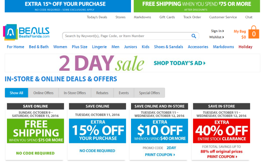 How to Get Bealls Florida Coupons