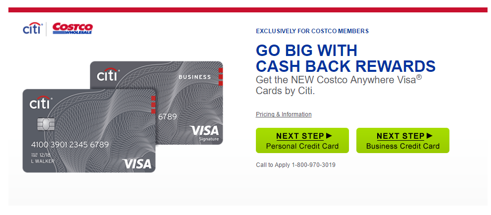 Step 1 - Go to the Credit Cards Page