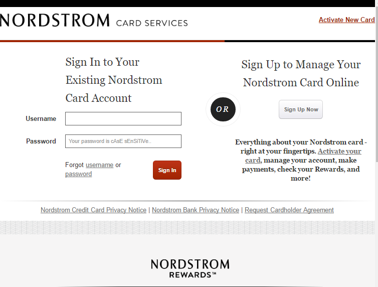 How to Login to Nordstrom Credit Card