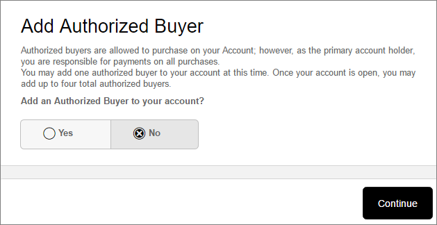 Step 4 - Authorized Buyer