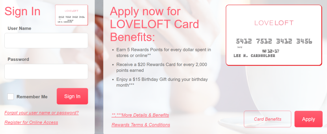 How to Login to Loft Credit Card