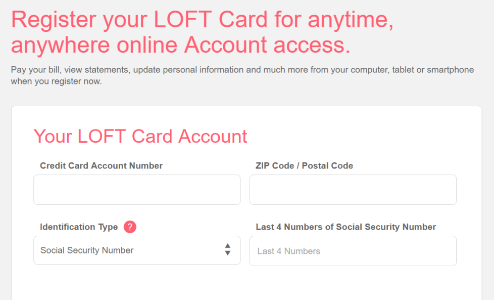 How to Activate Loft Credit Card / Register Loft Credit Card