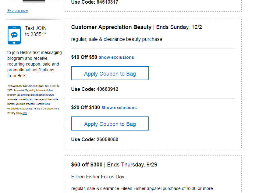 How to get Belk Coupons