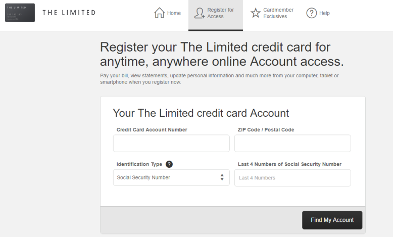 How to Register The Limited Credit Card