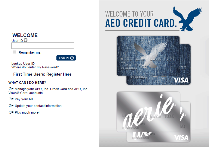 American Eagle Credit Card Sign In >> American Eagle Credit Card Login Creditcardmenu Com