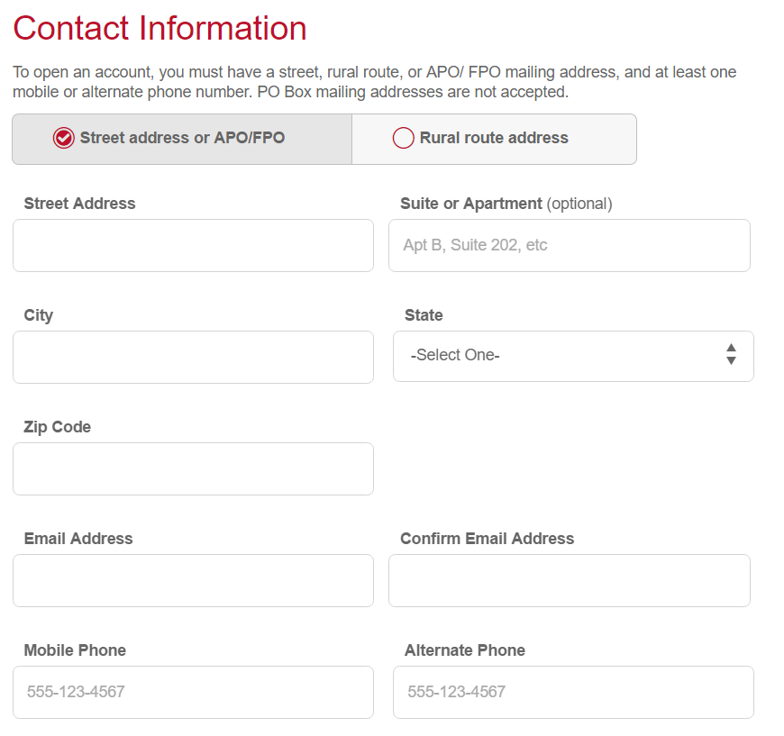Step 3 - Fill Out Contact Information