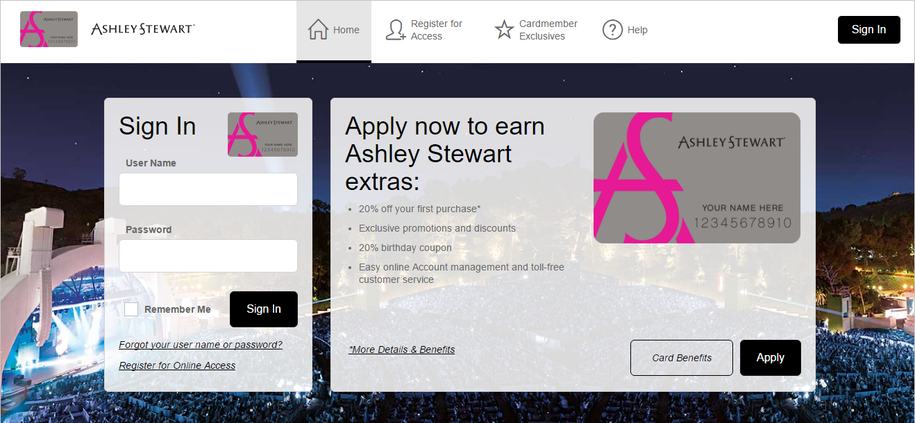 How to Login to Ashley Stewart Credit Card