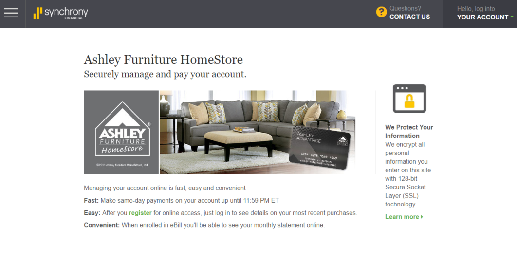 Ashley Furniture Credit Card Payment Stunning Ashleys Furniture Payment Collection