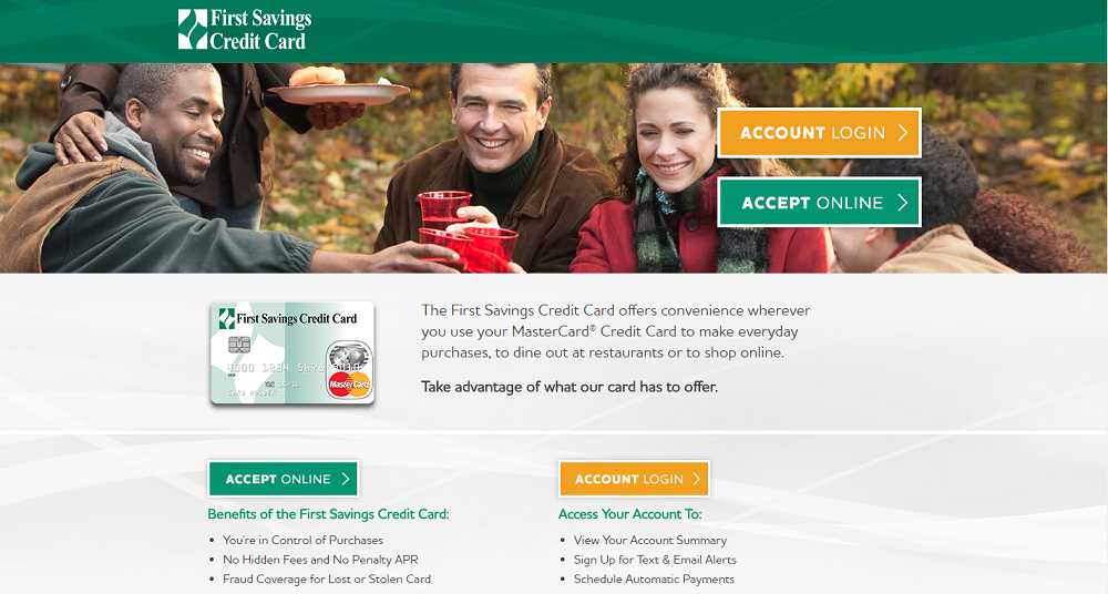 First Savings Credit Card Activate | Sign Up