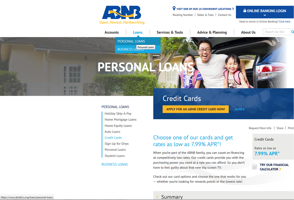 Step 1 - Go to ABNB Website