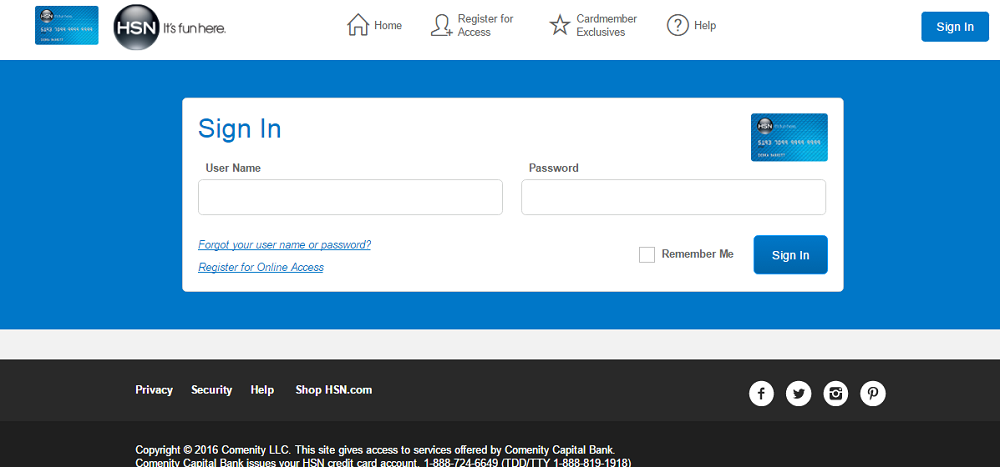 How to Login to the HSN Credit Card Account