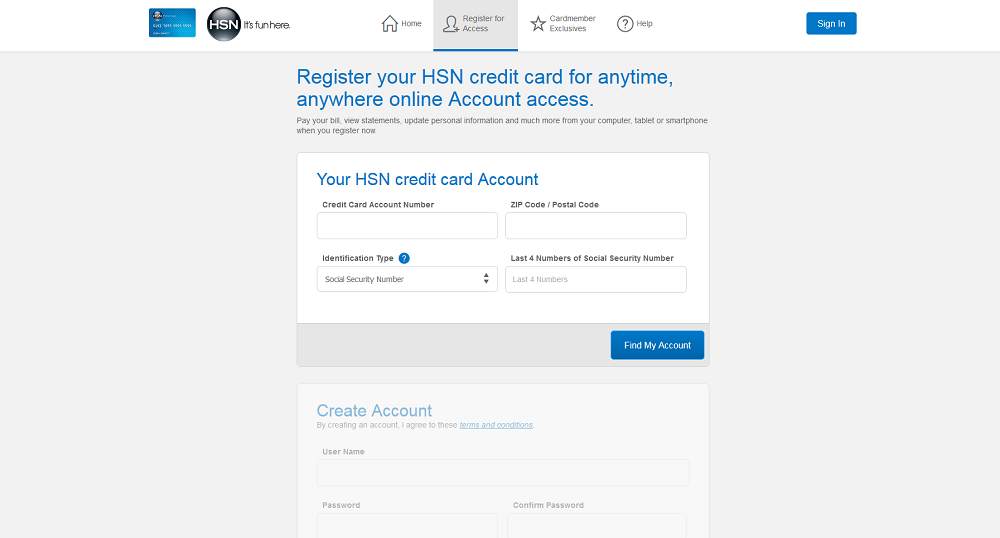 How to Activate the HSN Credit Card Account