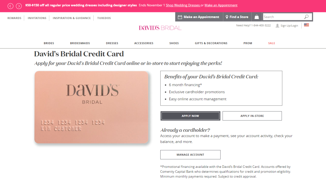 Step 1 - Go to the David's Bridal Website
