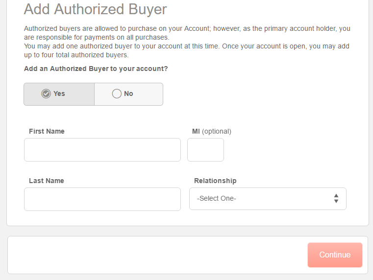 Step 4 - Add an Authorized Buyer (optional step)