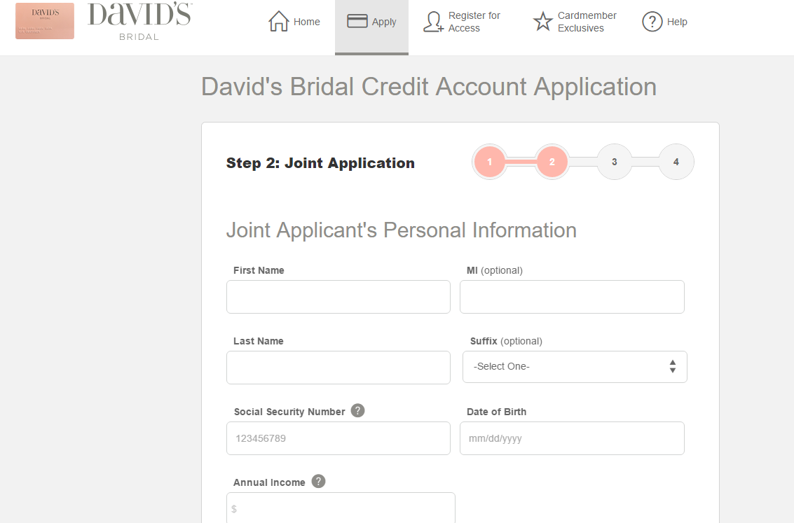 Step 5 - Add Your Joint Applicant's Personal Information (optional step)