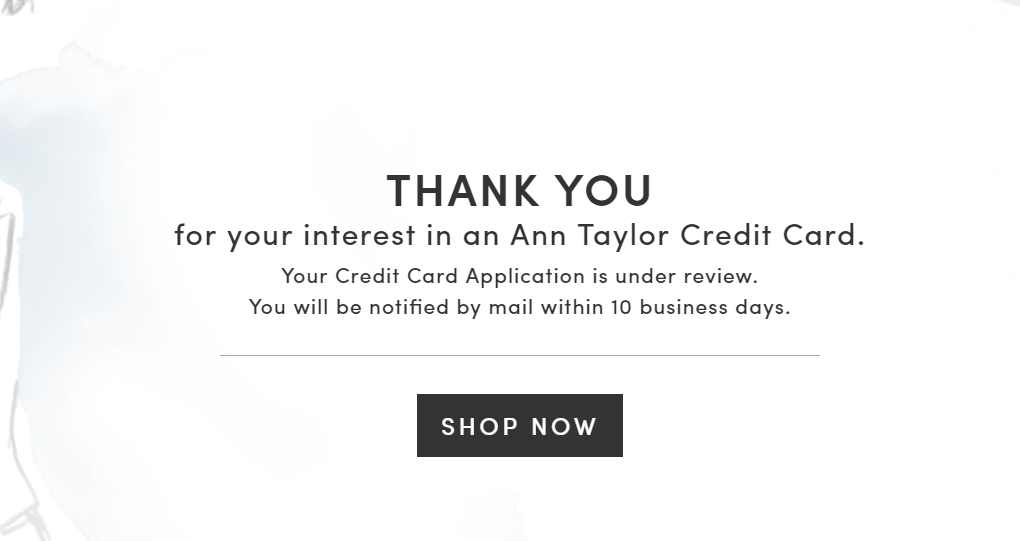 Step 6 - Confirmation of Credit Card