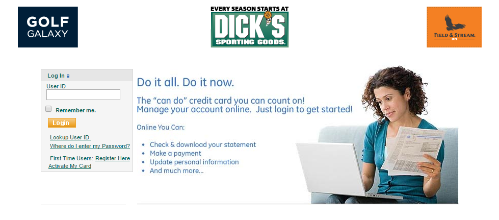 How to Login to Dick's Sporting Goods Credit Card