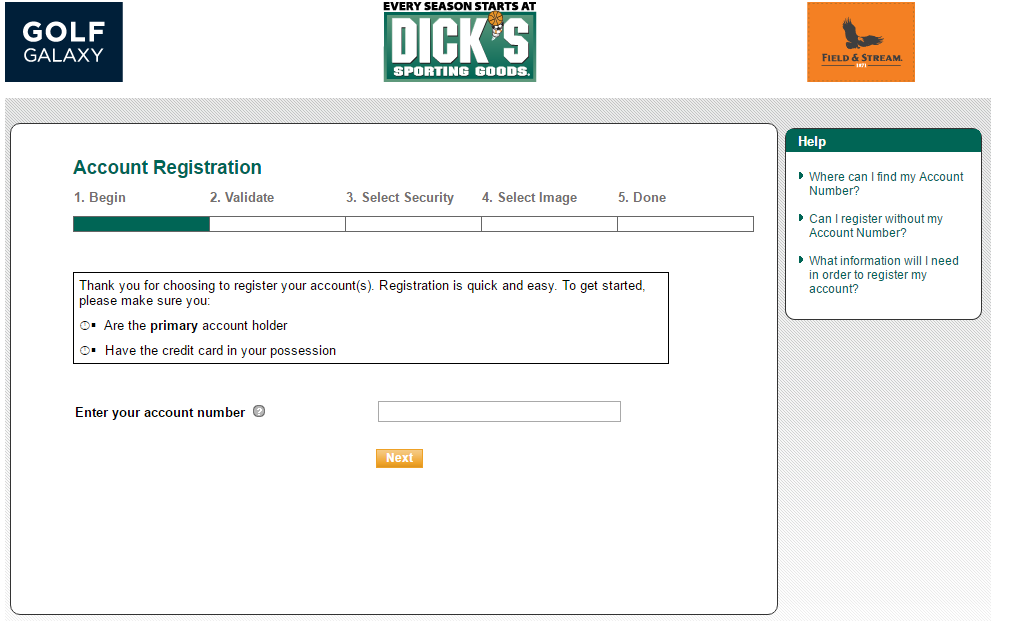 How to Activate and Register Dick's Sporting Goods Credit Card