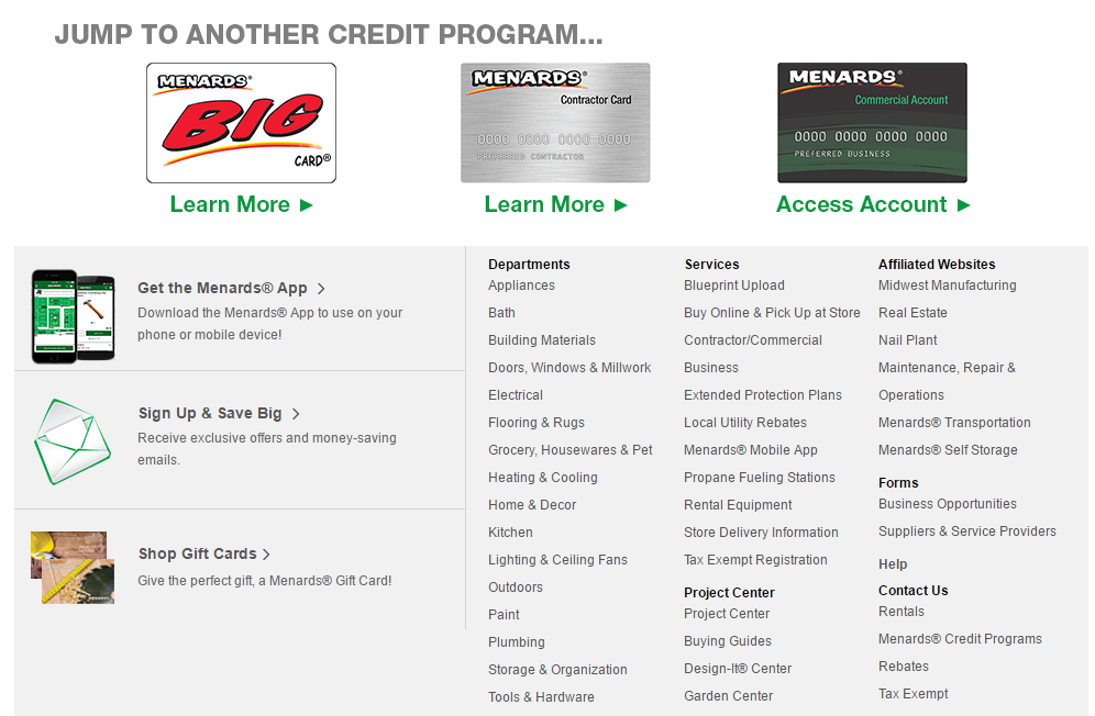 How to Login to Menards Credit Card