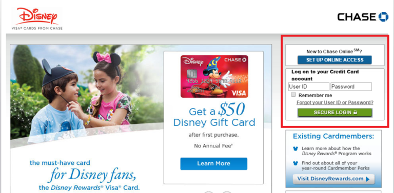 How to Login to Disney Credit Card Account