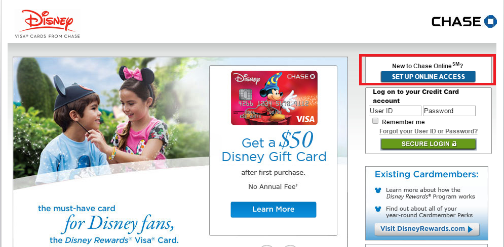 Pay Disney Credit Card Online