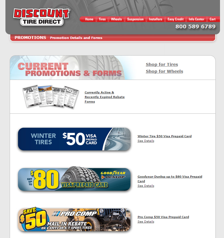 Discount Tire Credit Card Coupons