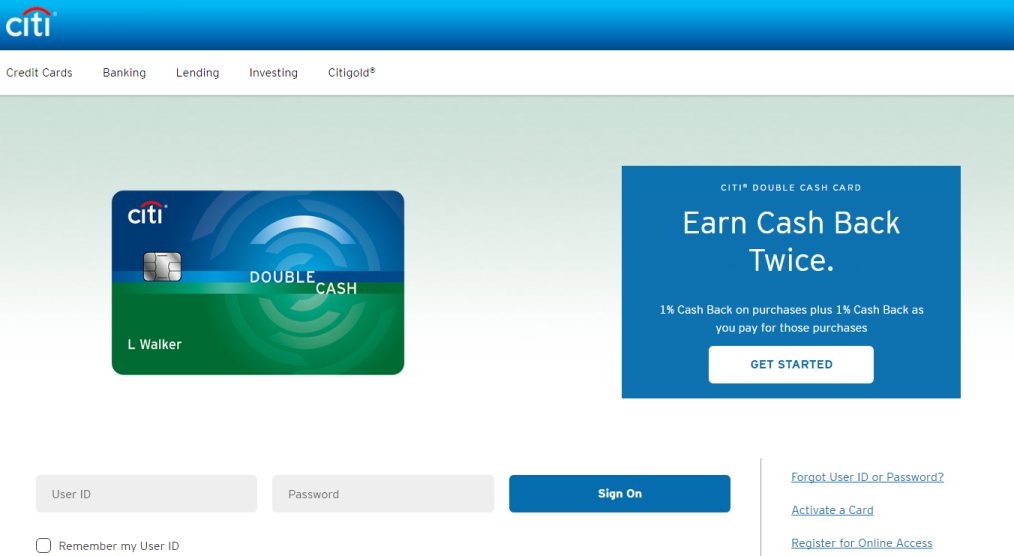 How to Login to Citi Double Cash Card
