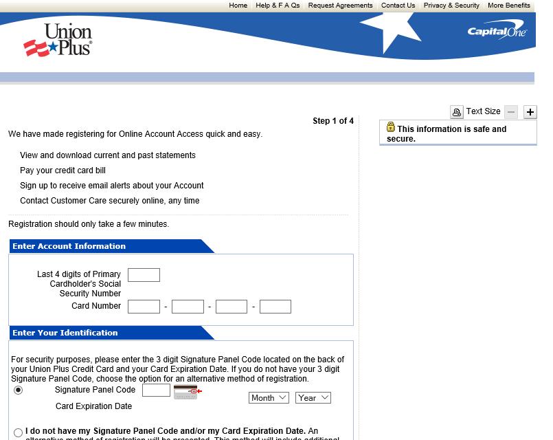 Union Plus Credit Card Login