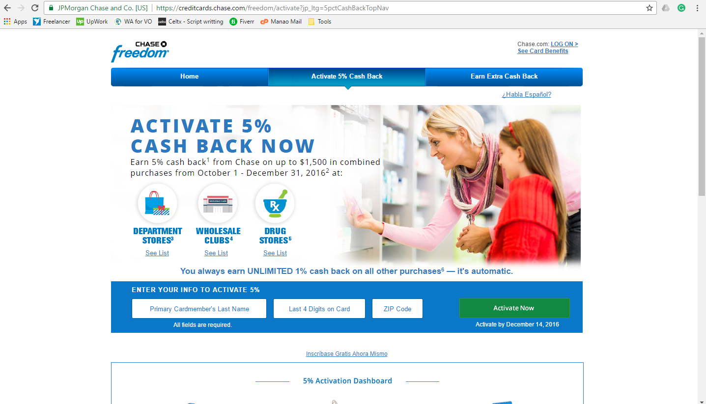 How to Activate Chase Freedom Credit Card
