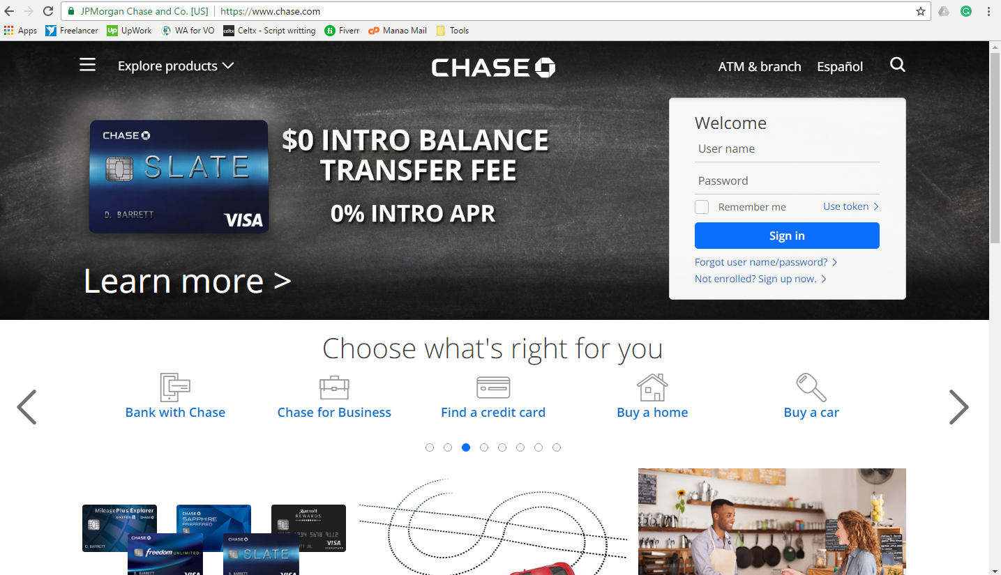 How to Pay for Chase Freedom Credit Card Online