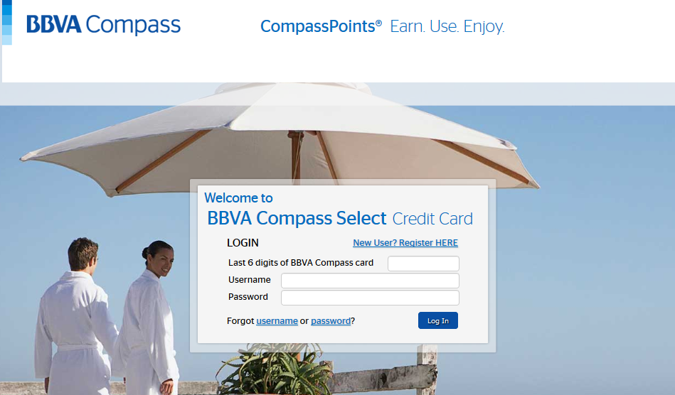 BBVA Compass Select Credit Card Login