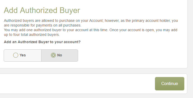 Step 3 - Add Your Authorized Buyer
