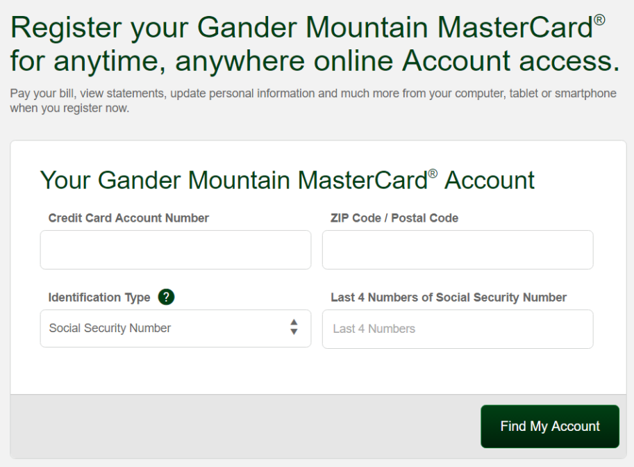 How to Activate The Gander Mountain MasterCard