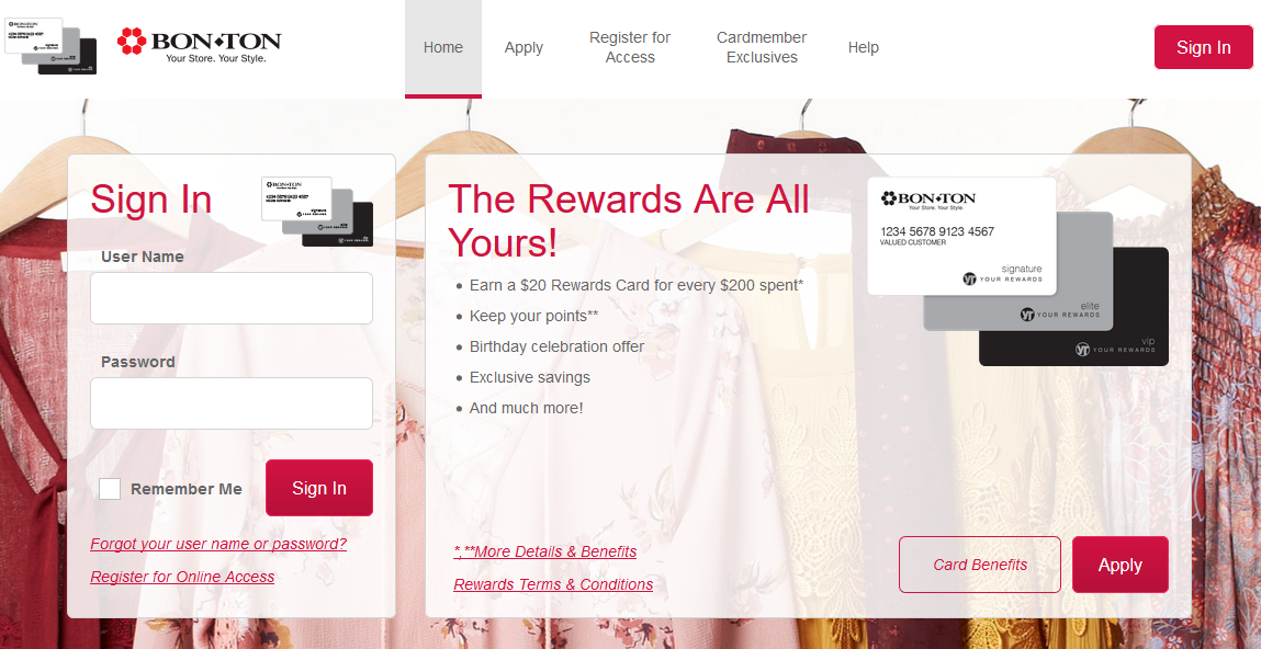 How to Login to Bon-Ton Credit Card