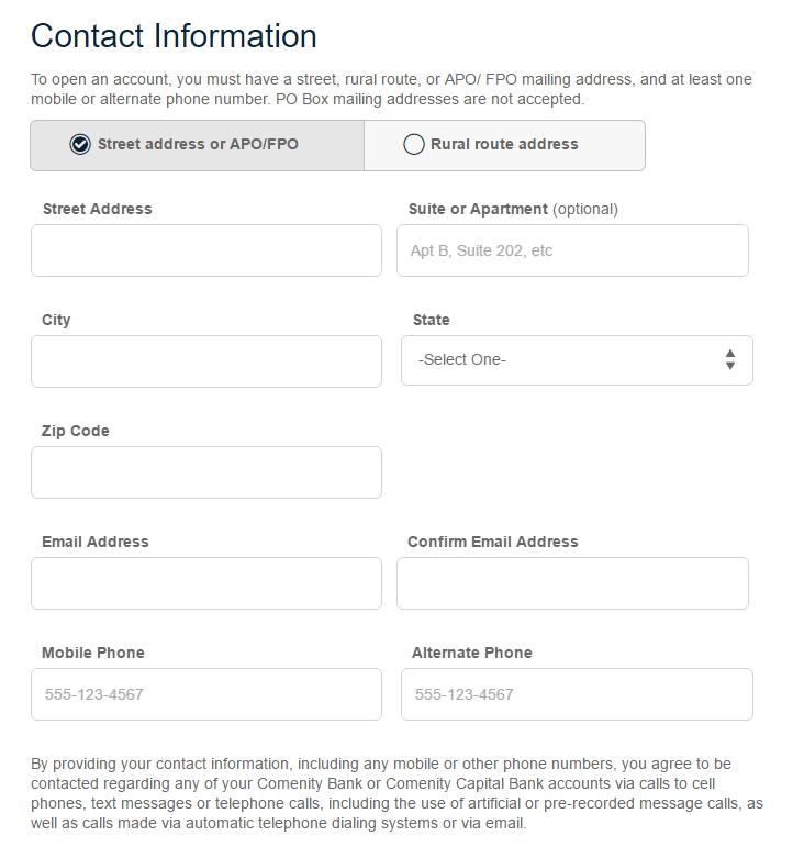 Step 3 - Fill in Your Contact Information