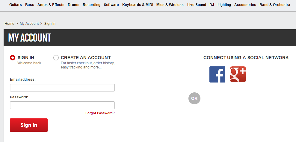How to Recover My Guitar Center Gear Card Password