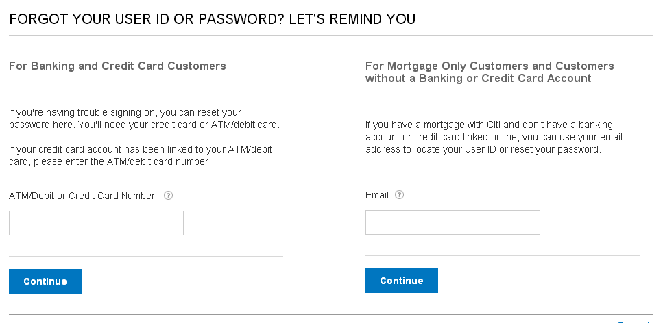 ID or Password Loss