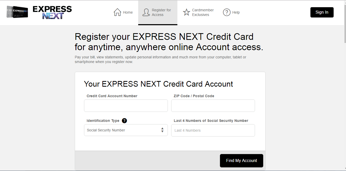 How to Pay for the Express Next Credit Card Online