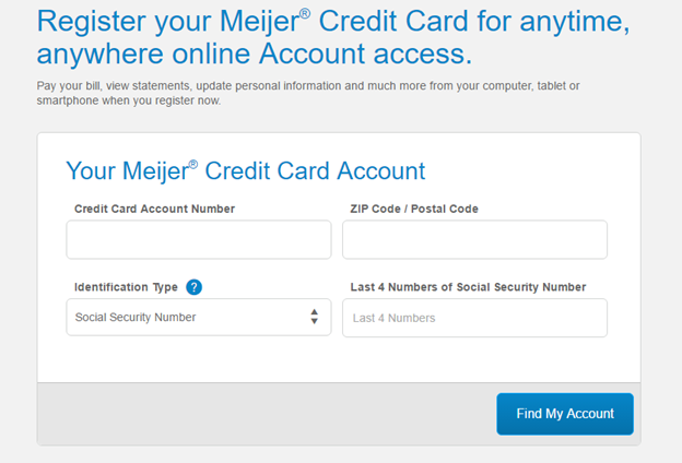 How to Activate Your Meijer Credit Card Account