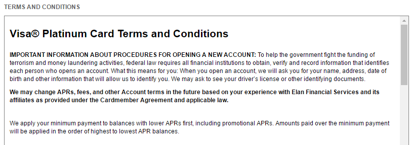 Step 3 - Accept Terms and Conditions