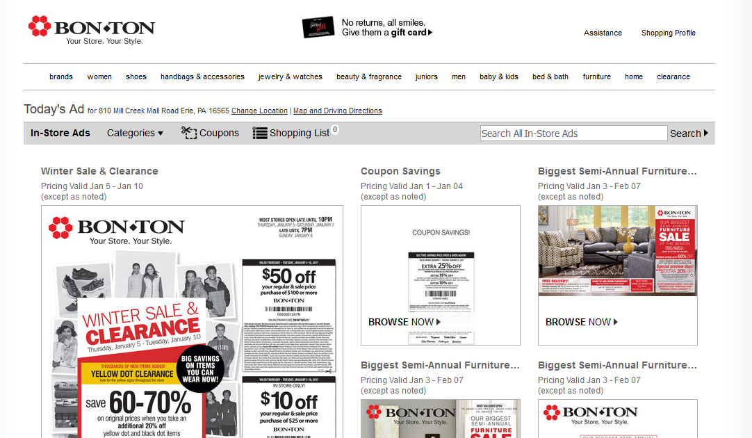 How to Use Bon-Ton Special Deals