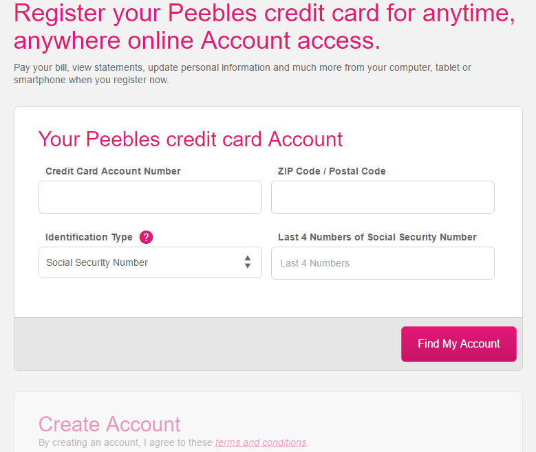 How to Register Peebles Credit Card