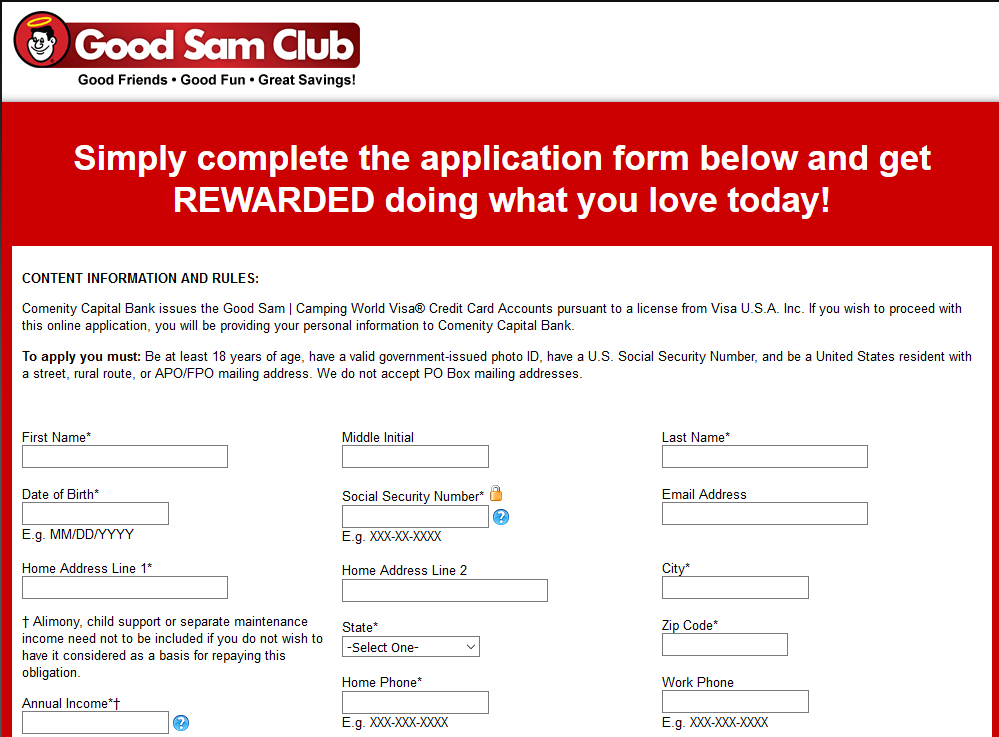 Step 2 - Fill in the Application Form